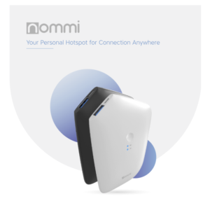 Nommi – 4G Hotspot with Unlimited Wi-Fi Worldwide.