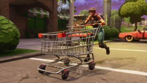 Score a Victrolley Royale in Fortnite, as Patch 4.3.0 introduces shield-boosting mushrooms and rideable shopping carts